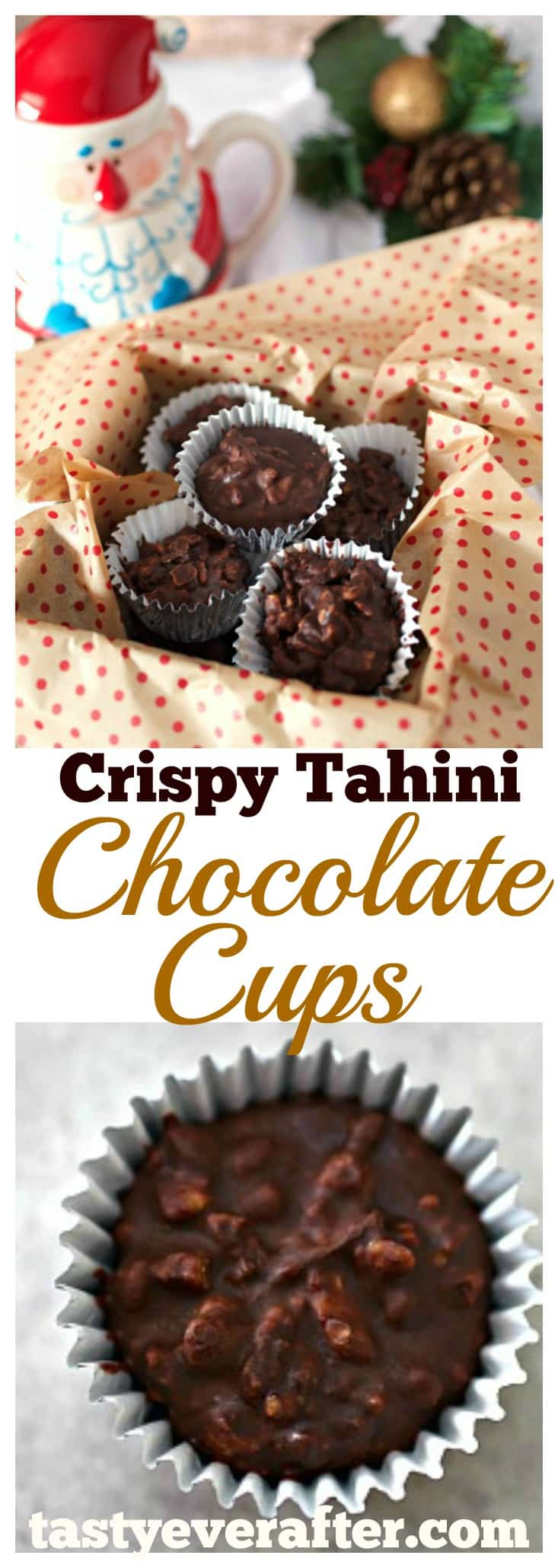 Crispy Tahini Chocolate Cups
