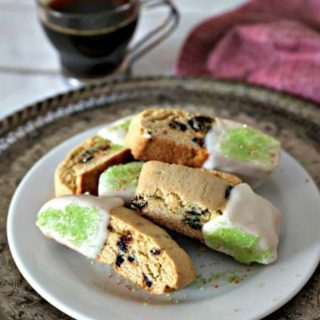 Pistachio and Fig Sesame Biscotti