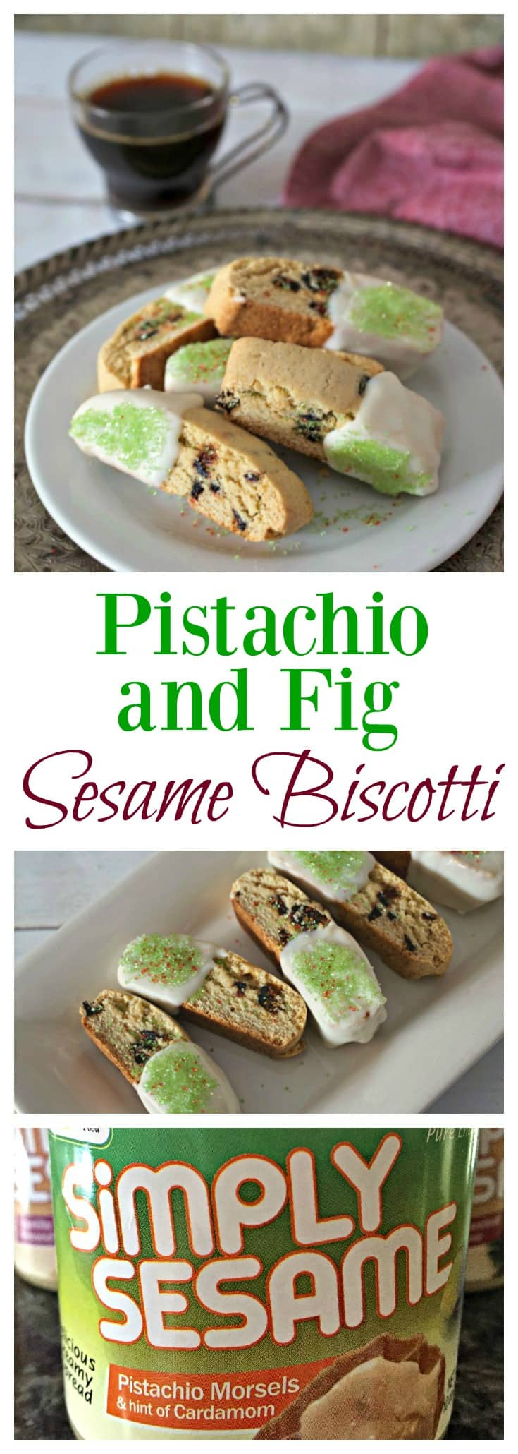 Pistachio and Fig Sesame Biscotti
