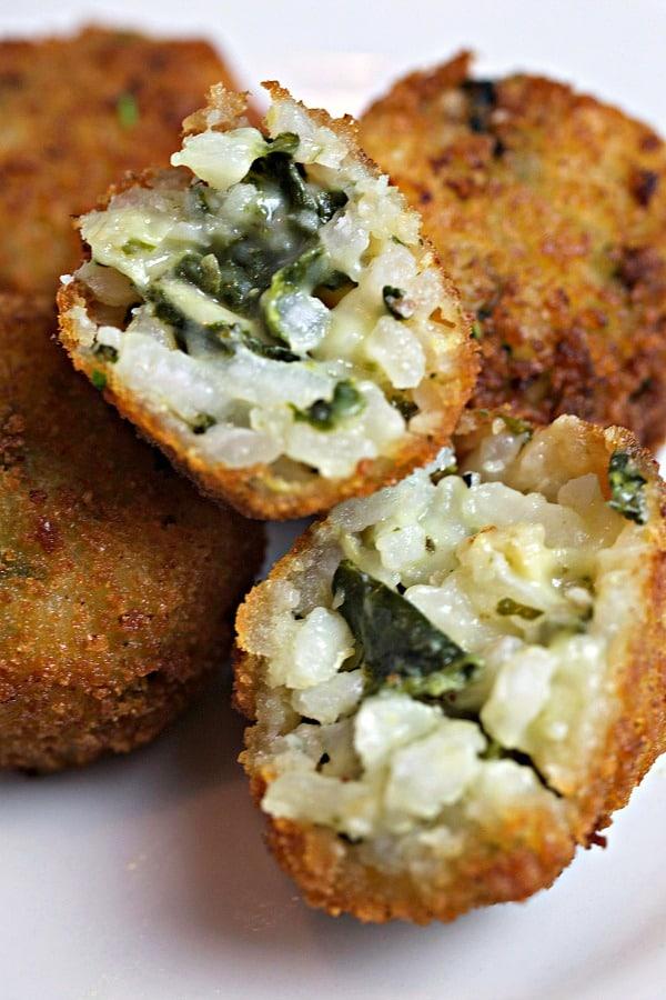 Spinach Artichoke Risotto Bites