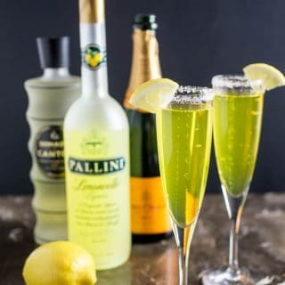 Gingered Limoncello Champagne Cocktail