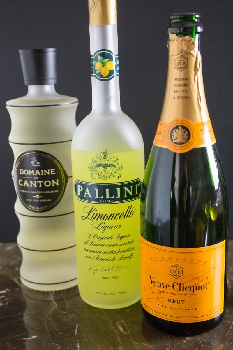 Refreshing Limoncello Champagne Cocktail Recipe With