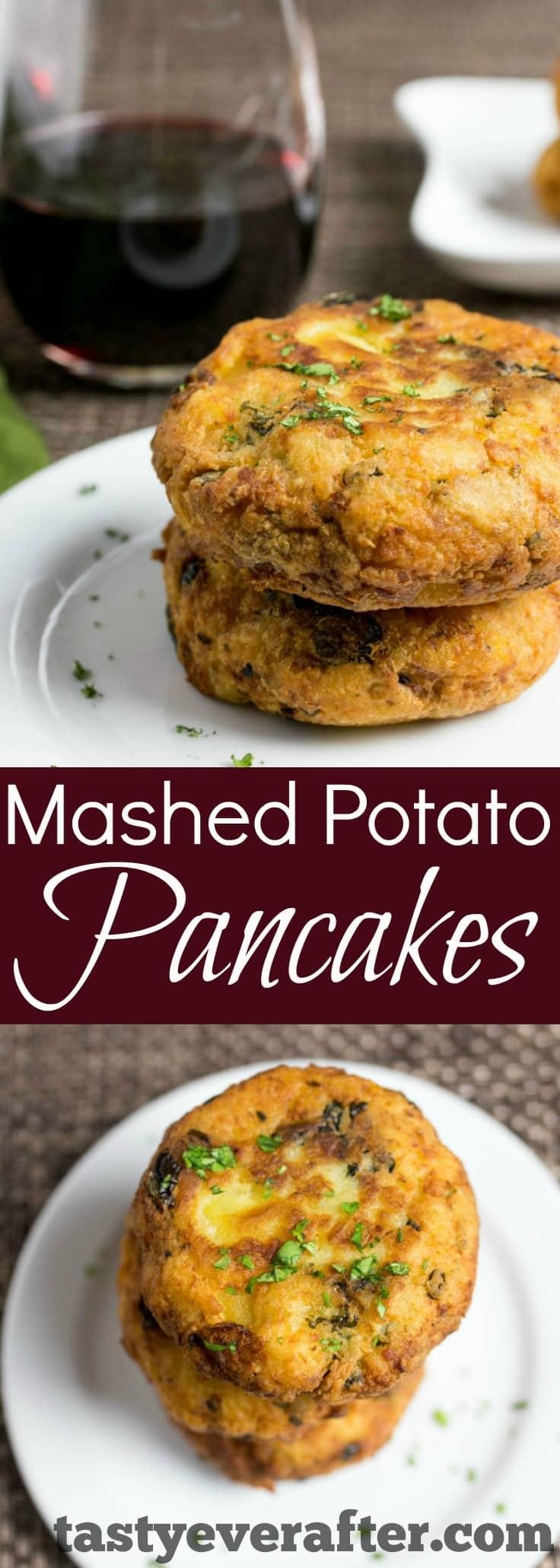 MashedPotatoePancakesPIN2 - Leftover Mashed Potato Pancakes Recipe
