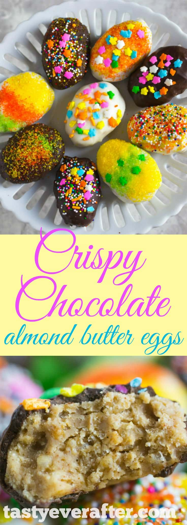 Crispy Chocolate Covered Almond Butter Eggs Recipe