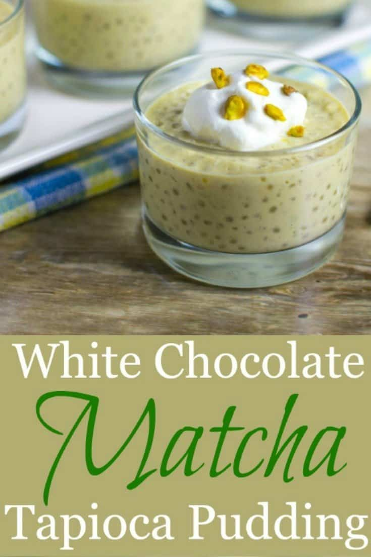 Matcha Tapioca Pudding Pinterest PIN