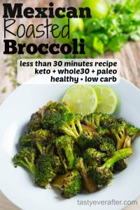 Mexican roasted broccoli recipe Pinterest PIN