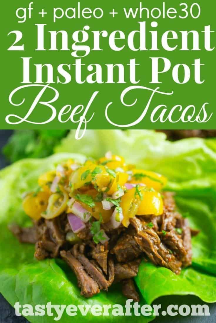 Instant Pot Beef Tacos Recipe Pinterest PIN