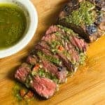 Easy Herb Crusted Steak + Chimichurri