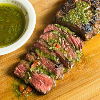 Easy Herb Crusted Steak + Chimichurri with Dorot Recipe