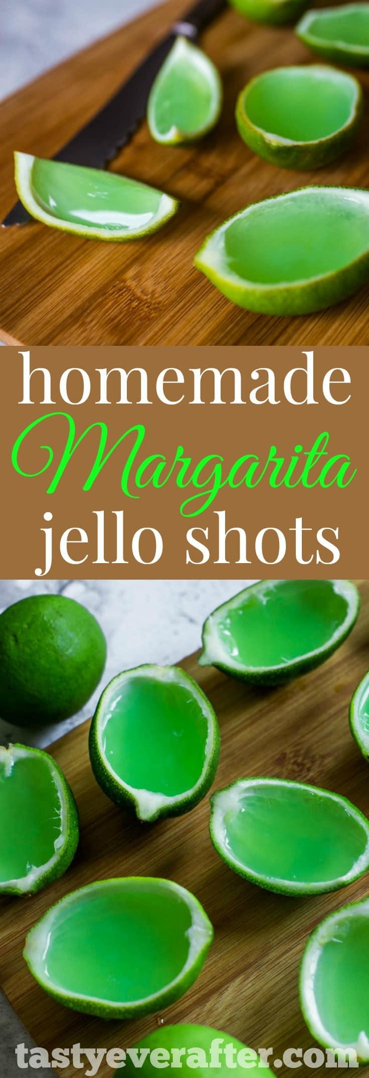 MargaritaJelloShotsPIN - Homemade Margarita Jello Shots Recipe
