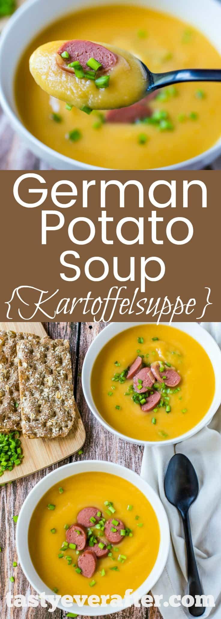 German Potato Soup {Kartoffelsuppe} Recipe