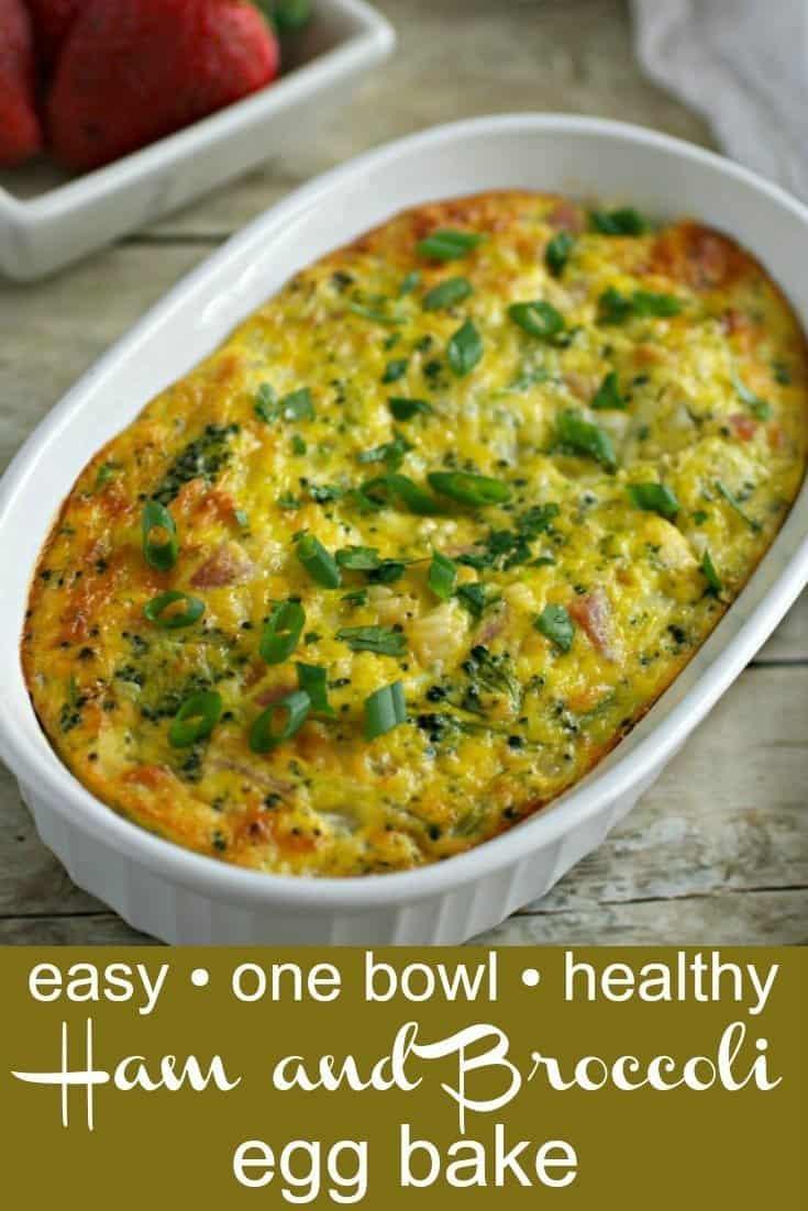 Healthy Ham and Egg Bake recipe Pinterest PIN