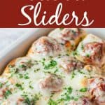 Meatball sliders Pinterest PIN