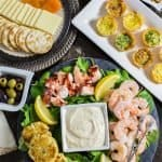 Seafood Appetizer Platter with Homemade Mustard Sauce