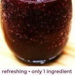 Wine slushy in a glass Pinterest PIN