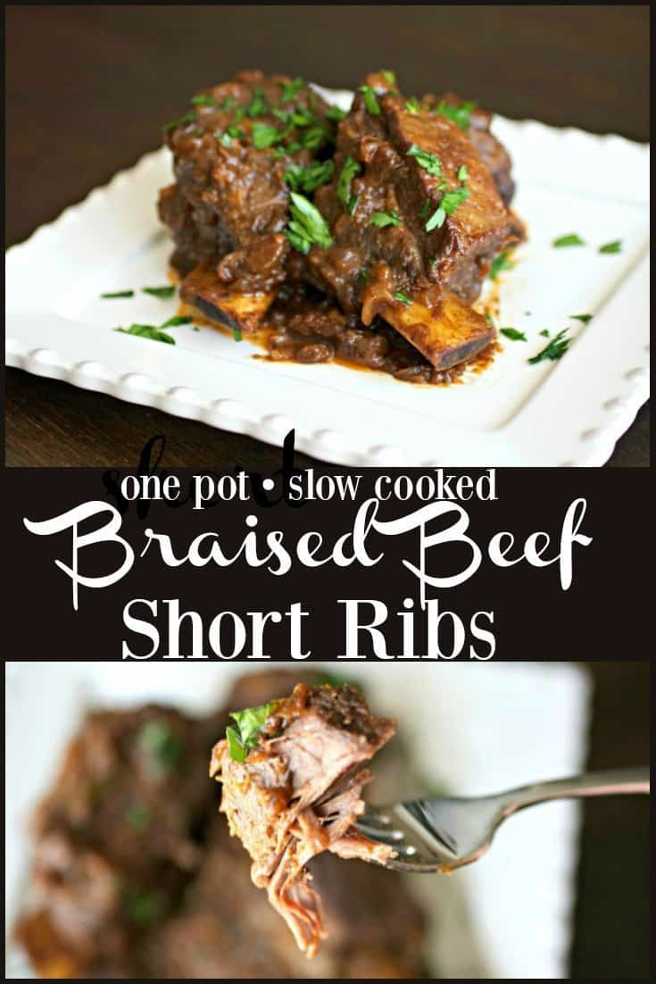 Braised Beef Short RIbs Pinterest PIN